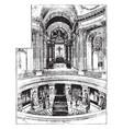 tomb napoleon bonaparte vintage vector image vector image
