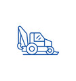 tractor line icon concept tractor flat vector image vector image