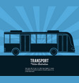 transport bus vehicle design vector image vector image
