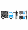 truck customer composition icon ragged elements vector image vector image