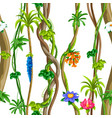 twisted wild liana branch seamless pattern jungle vector image vector image