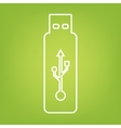 usb flash drive vector image vector image
