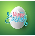 Very Happy Easter greeting card with easter egg vector image vector image