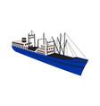 vintage cargo ship retro vector image vector image