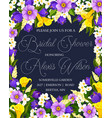 wedding bridal shower party invitation poster vector image vector image