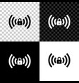 wifi locked sign icon isolated on black white and vector image vector image