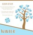 Winter season card vector image vector image