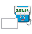 with board freezer bag character cartoon vector image vector image