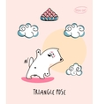 Yoga Cat in triangle pose vector image