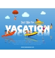 Best offer for vacation banner vector image