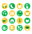 Farm and ranch Gardening icons set vector image