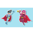 Superhero boys vector image