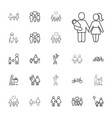 22 father icons vector image vector image