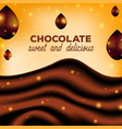 abstract chocolate background with drops brown vector image vector image