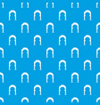 archway vintage pattern seamless blue vector image