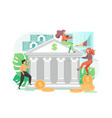 banking services flat style design vector image