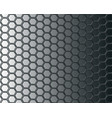 black hexagon mesh on gray background design vector image