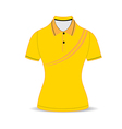 Black polo shirt outline vector image vector image