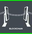 blockchain computer screen chain vector image vector image