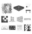 board game monochrome icons in set collection for vector image vector image