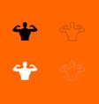 bodybuilder icon vector image vector image