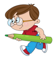 boy with a pencil vector image vector image