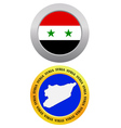 button as a symbol SYRIA vector image