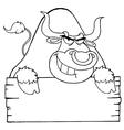 Cartoon bull vector image vector image
