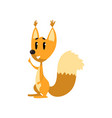 cartoon funny squirrel character showing thumbs up vector image
