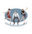charleston party vector image vector image