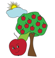 colored-apple vector image