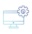 computer and gear design vector image