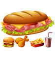 Different kind of food vector image vector image
