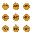 Discount price icons vector image vector image