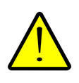 exclamation warning sign vector image vector image