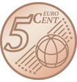 five euro cent coin vector image vector image