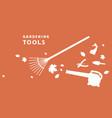 flyer for garden tools store vector image vector image
