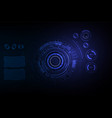 futuristic sci fi hi tech concept background vector image vector image