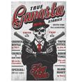gangsta skeleton magazine vector image vector image