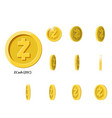 gold rotate zcash coin frames vector image vector image