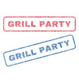 grill party textile stamps vector image vector image