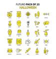 halloween icon set yellow futuro latest design vector image