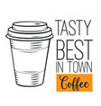 hand drawn coffee icon vector image