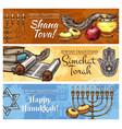 hanukkah jewish religious holidays sketch design vector image