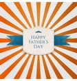 Happy Fathers Day modern graphic Tag vector image vector image
