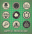 Happy st patricks day labels vector | Price: 1 Credit (USD $1)