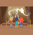 historical museum with mammoth skeleton vector image vector image