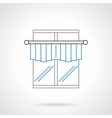 Kitchen curtains flat line icon vector image vector image