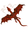 Lava dragon vector image vector image