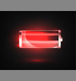 low battery battery charging status indicator vector image